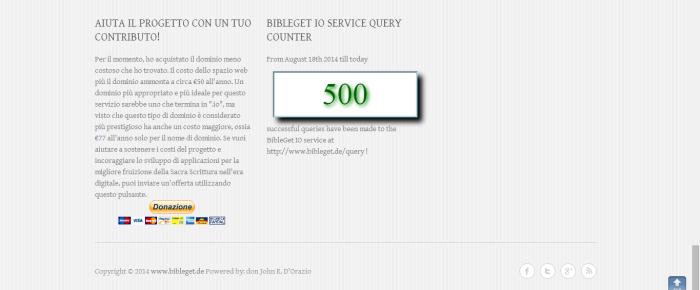 Prime 500 query riuscite!